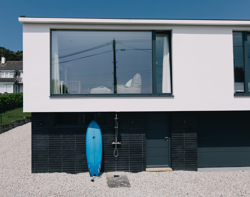 The striking modernist design exterior at White Star in Rock, Cornwall