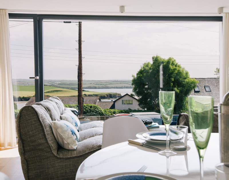 Enjoy stunning views of the tidal estuary at White Star in Rock, North Cornwall