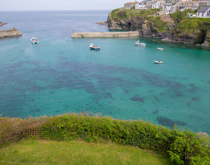 Superb views of Port Isaac's harbour waters from Northcliffe's garden
