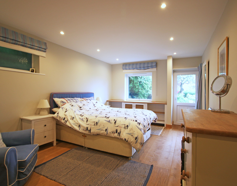 The spacious master bedroom at Greywings a self catering holiday house in Rock, Cornwall