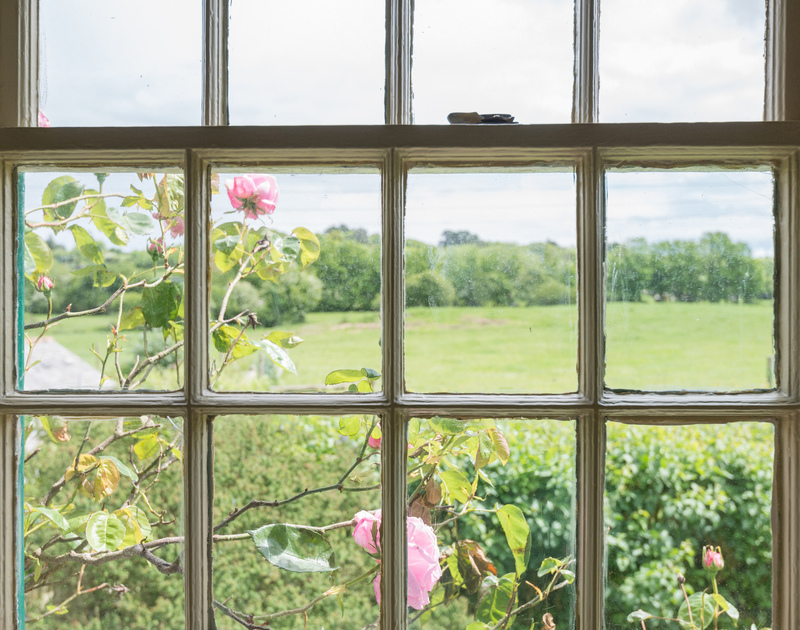 Lovely countryside views from a double bedroom of Porthilly Greys, a holiday rental in Rock