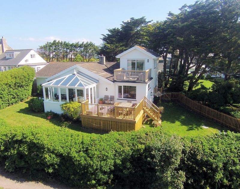 Rear photo of Brae Heights, a well-positioned self catering holiday home in Daymer Bay, Cornwall.