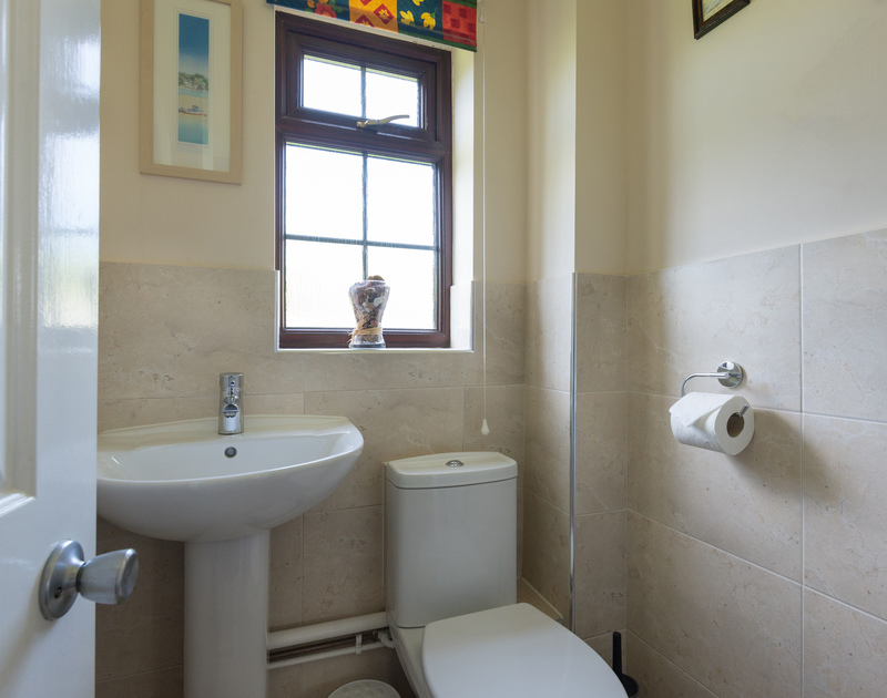 The ground floor WC of Hazelhurst, self catering holiday cottage in Rock, Cornwall