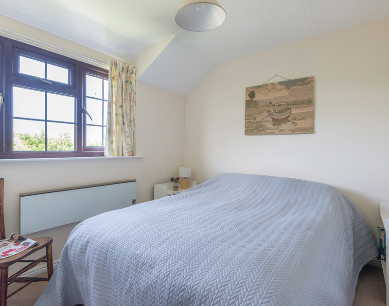 One of two double rooms at Hazelhurst, a holiday rental near Rock, perfect for families