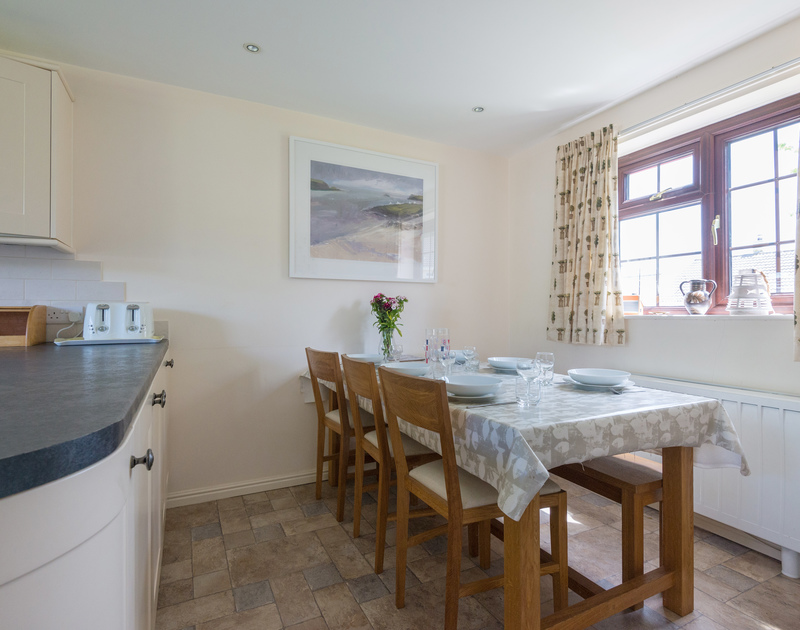 The dining area at Hazelhurst, great family holiday accommodation near Rock, Cornwall