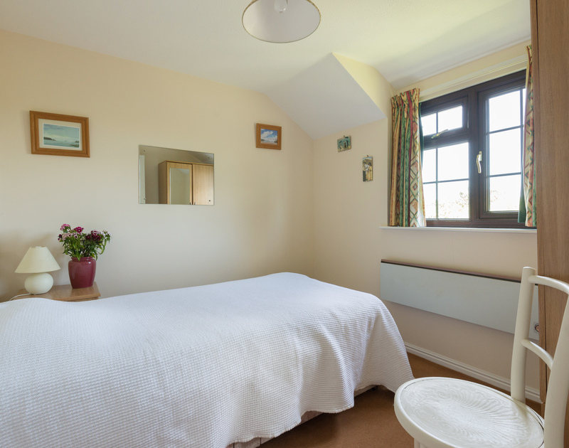 The single bedroom at Hazlehurst, great family holiday accommodation at Rock, Cornwall