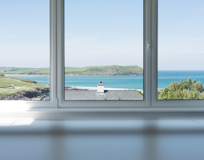Keep an eye on the tides and fishing boats from the comfort of the master bedroom at Bryher