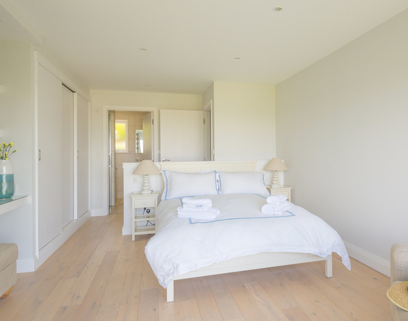 Simple, effective style in the ground floor double bedroom at Bryher