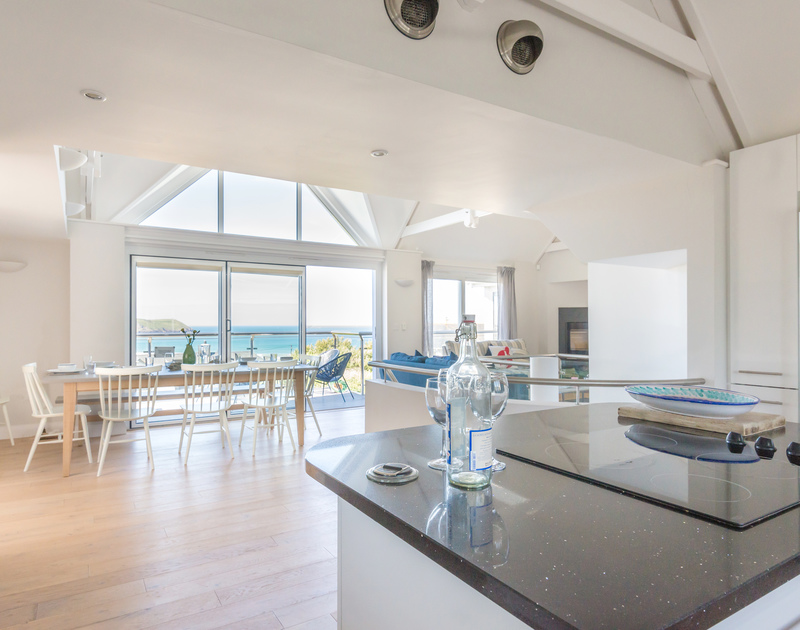 Luxuriate in the airy first floor living space of Bryher, a coastal holiday home to rent in Polzeath