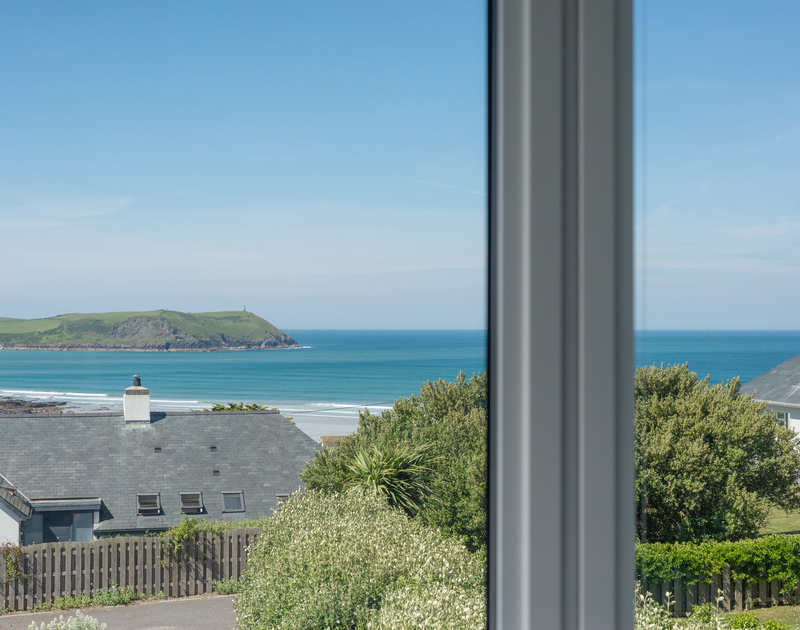 Gaze out at amazing views of Stepperfrom Bryher's living area