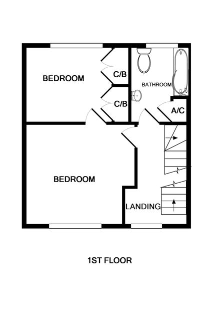 The first floorplans for self catering holiday house Poplar In Port Isaac.