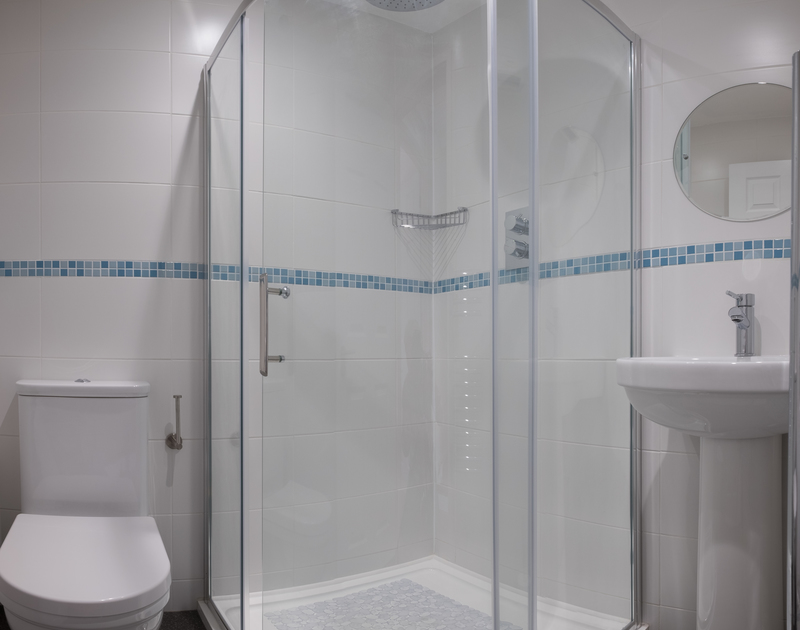 One of two shower rooms at Cogenhoe, a self catering holiday cottage in Rock, Cornwall