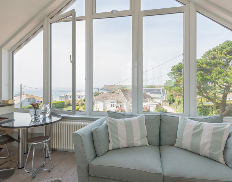 Capture the magnificent views of the sea towards Pentire Point from the floor to ceiling in the living room at The Point.