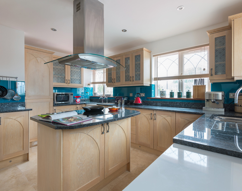 Plenty of space and equipment to get all the family involved in cooking up holiday meals in the spacious kitchen at Fairholme in Port Isaac.