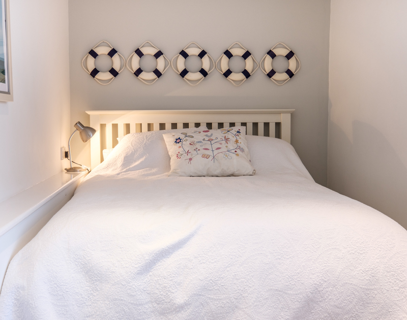 One of the double bedrooms at Trestar has a nautical theme, owing to its proximity to the sea a few minutes walk away at Polzeath.