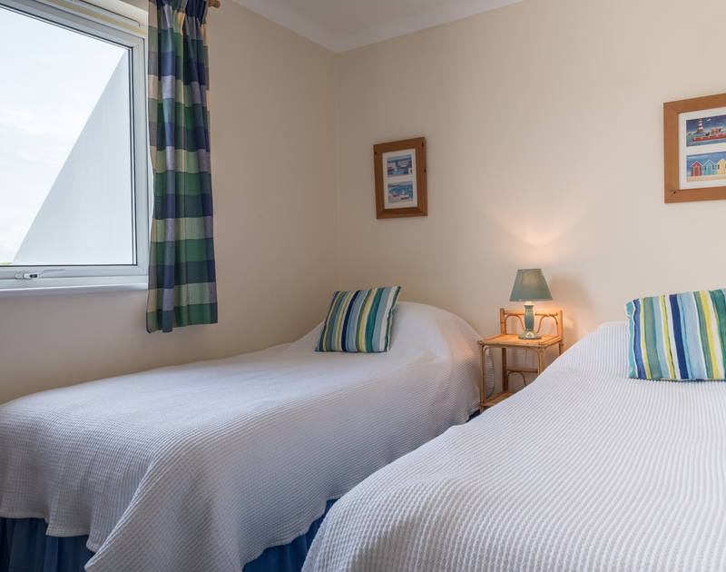 The second twin bedroom on the ground floor at self catering holiday rental St Breock in Cornwall.