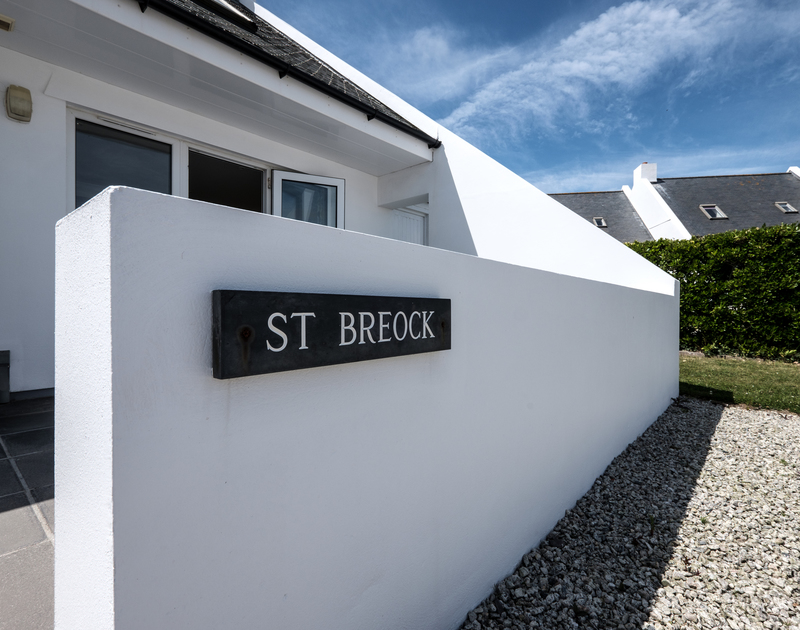 The entrance to self catering, holiday rental St Breock at Highcliffe, Polzeath in Cornwall.