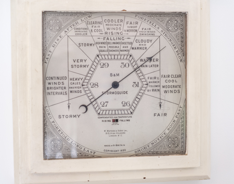 A useful barometer to help keep an eye on the Cornish weather at Sea Reach in Polzeath, Cornwall.