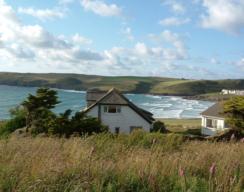 The panoramic sea views from self-catering cottage September Tide located at Polzeath on the north Cornwall coast.