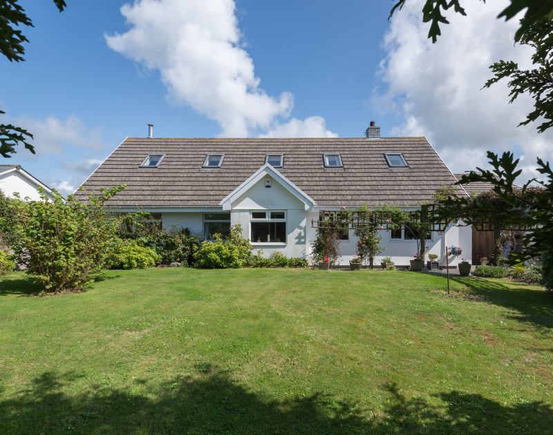 Treperran is situated between the beaches of Polzeath and Daymer Bay with a good sized garden and lovely rural views.