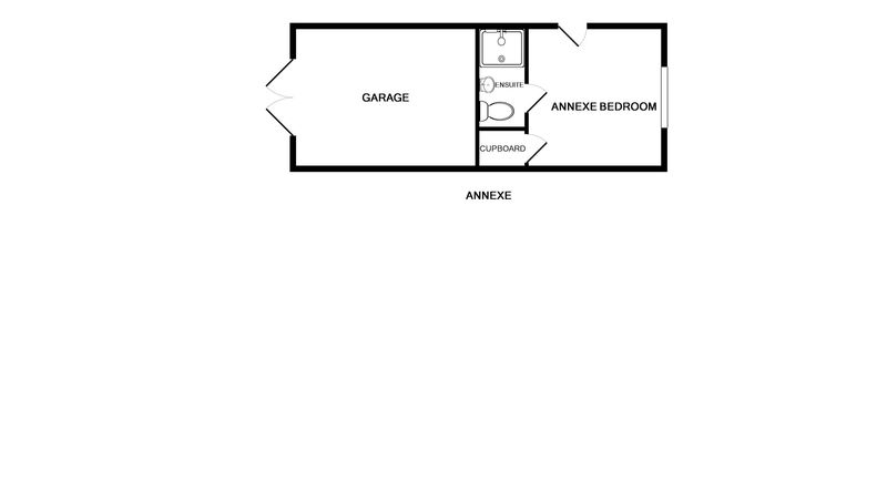The floor plan for the annex at self catering holiday house The Crest in Polzeath.