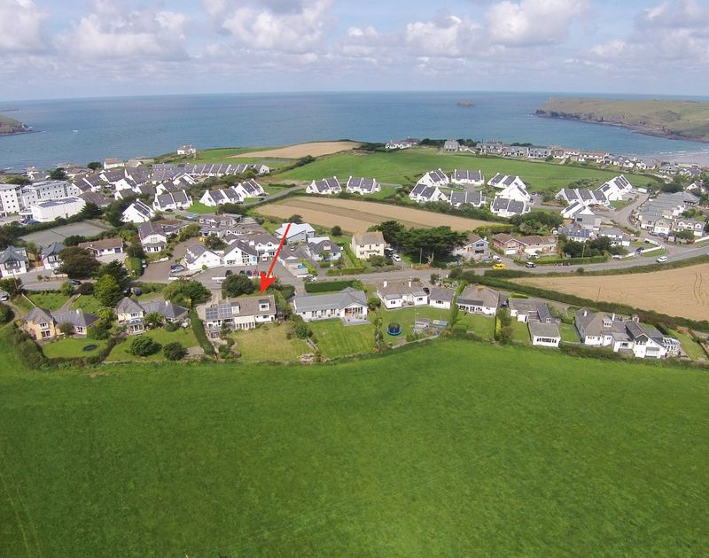 The coastal location of Treperran near the beaches of Daymer bay and Polzeath with lovely rural views inland.
