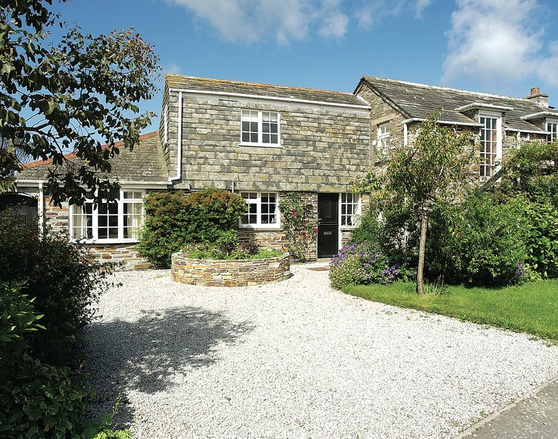 The pretty exterior of Little Pityme, an attractive converted barn for holiday rental in Rock, North Cornwall.