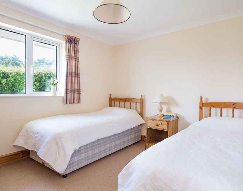 The second twin bedroom at self catering, holiday property Turnstones in Daymer Bay in north Cornwall.