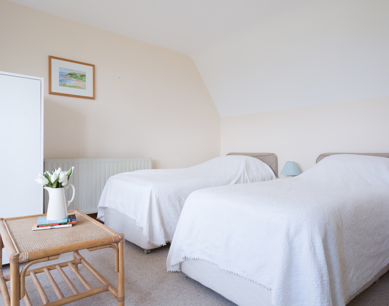 Another of the twin bedrooms at Seaworthy, a self catering, holiday rental in Daymer Bay, Cornwall.