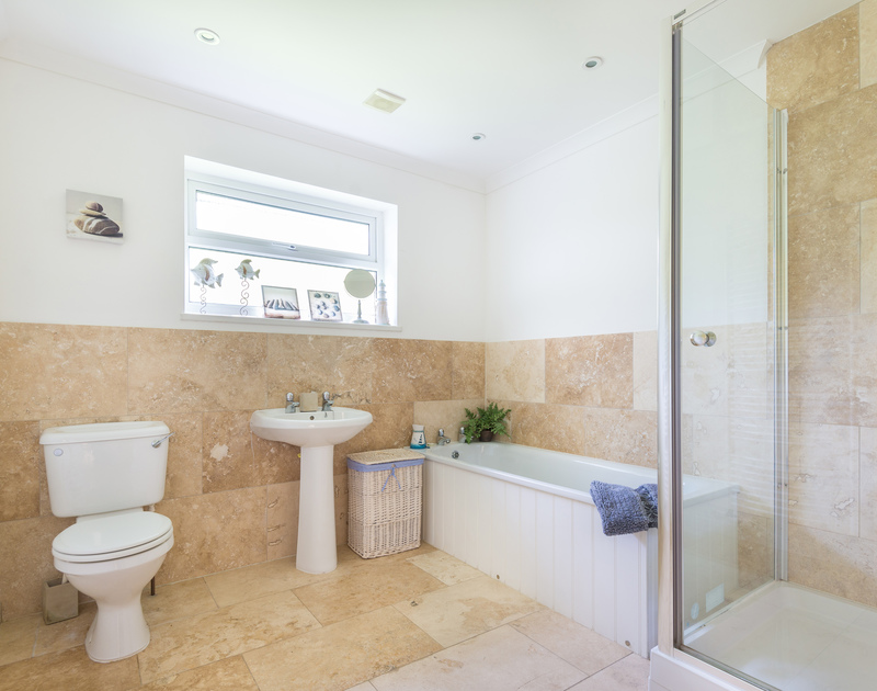 Silverdale's elegant and spacious new bathroom in Rock, Cornwall