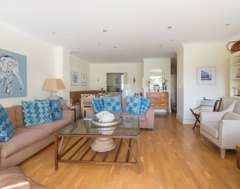 The sitting room at Lowenna Manor 5, a self catering holiday house to rent in Rock, Cornwall.