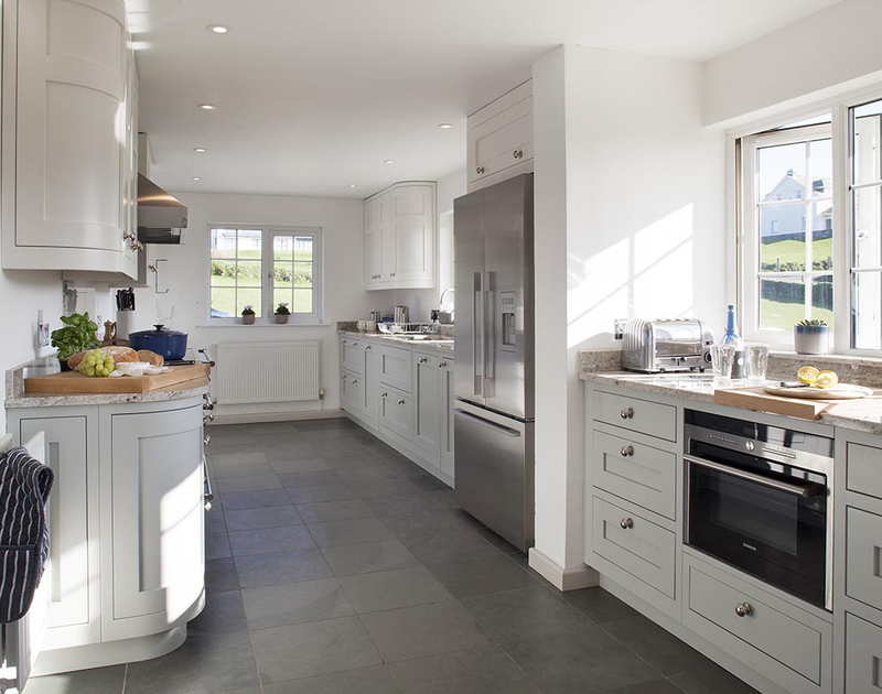 The elegant new kitchen at Spindrift has an adjacent utility room and everything you need to cook up fabulous family meals.