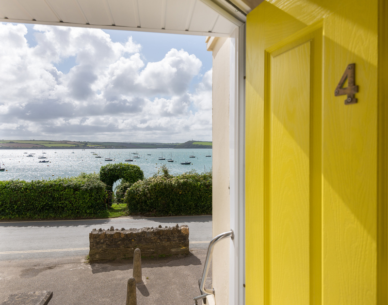 Revel in the stunning waterside loaction  of 4, The Terrace from the cheerful front door.