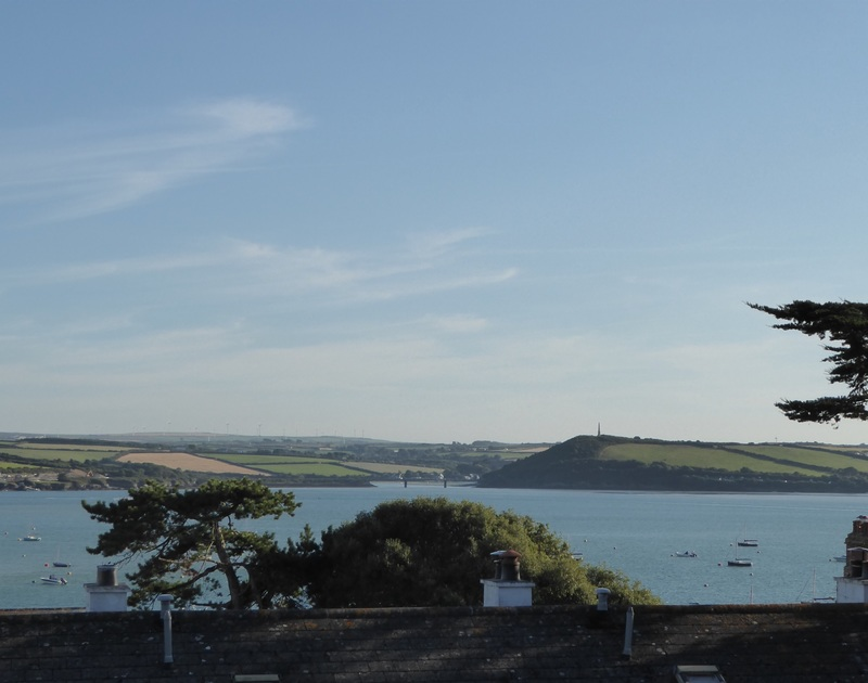 Enjoy the glorious views over the Camel Estuary and the boat moorings, towards the Iron Bridge from Slipway 15 in Rock.