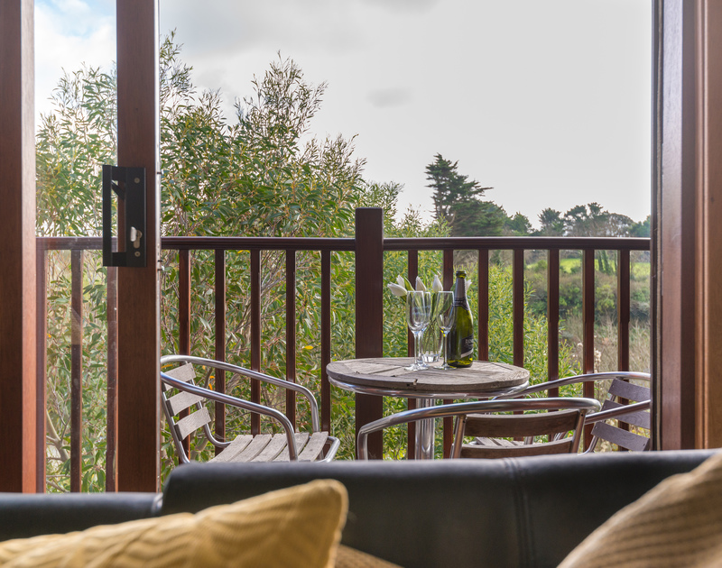 Lovely countryside views from the balcony of 8 Sandy Hills, a convenient holiday let in Rock