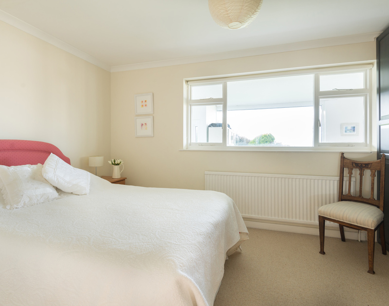 The second of two double bedrooms in Trewint, a self catering holiday bungalow to rent in the coastal resort of Polzeath on the North Cornish Coast.