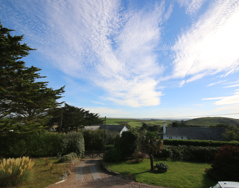 Brea Hill is visible not far from the end of the garden and private drive at Tringa, well worth the climb to the top for the stunning Camel Estuary views.