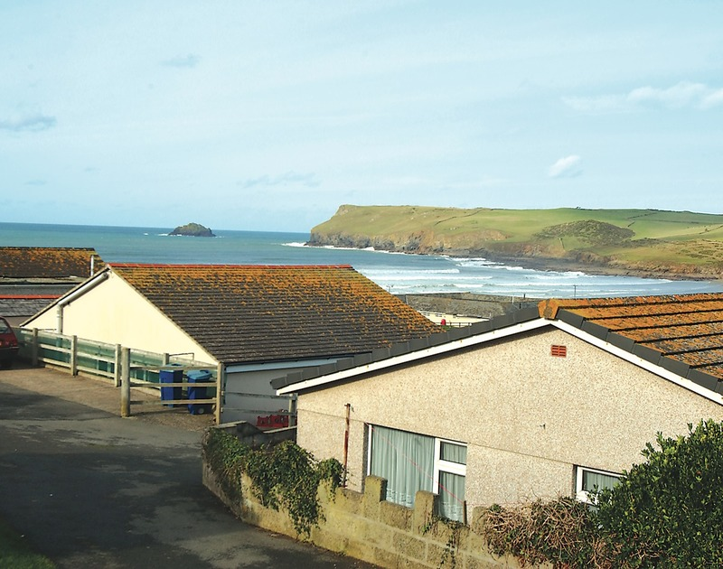 The stunning sea views from Millbank,  a self catering holiday cottage to rent on the coast at Polzeath in Cornwall.
