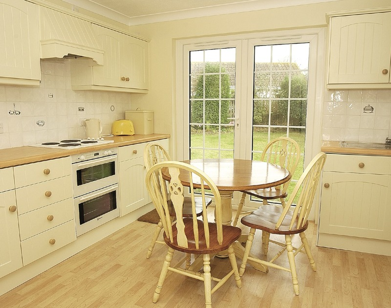 The practical kitchen at Lanhay, a self-catering holiday house in Rock, Cornwall
