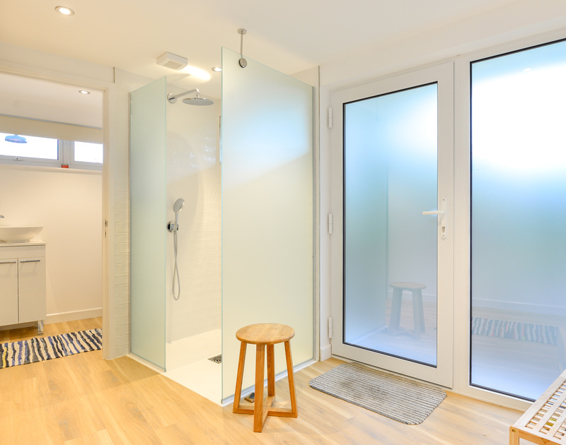 A very spacious shower room in Sea Mist, a self catering holiday house to rent in Polzeath, North Cornwall.