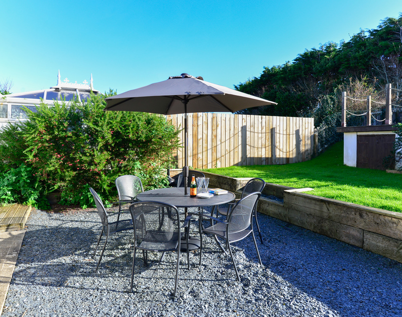 Take a drink outside into the sheltered garden, and enjoy the sunshine at Silvershell House, self catering holiday accommodation in Port Isaac, North Cornwall.