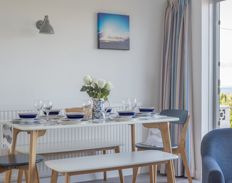 Stoke the appetites or refuel round  the dining table at Trelorna before and after hitting the surf at Polzeath Beach just below the property in North Cornwall.