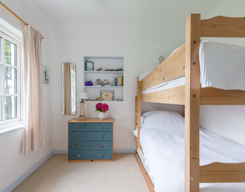 The bunk bedroom at Trewidden, a large, family, holiday house close to Daymer Bay in Cornwall.