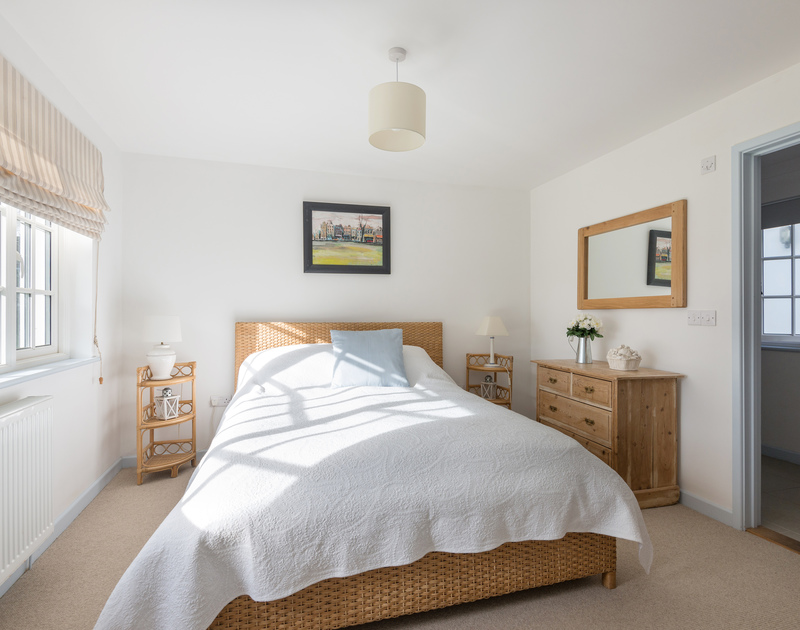Light filled double bedroom in large family, holiday property Trewidden, close to Daymer Bay in Cornwall.