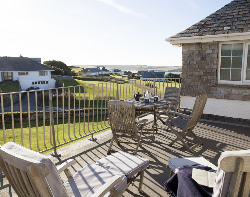 Soak up the lovely views from the first floor balcony at Spindrift, on The Greenaway near Daymer Bay