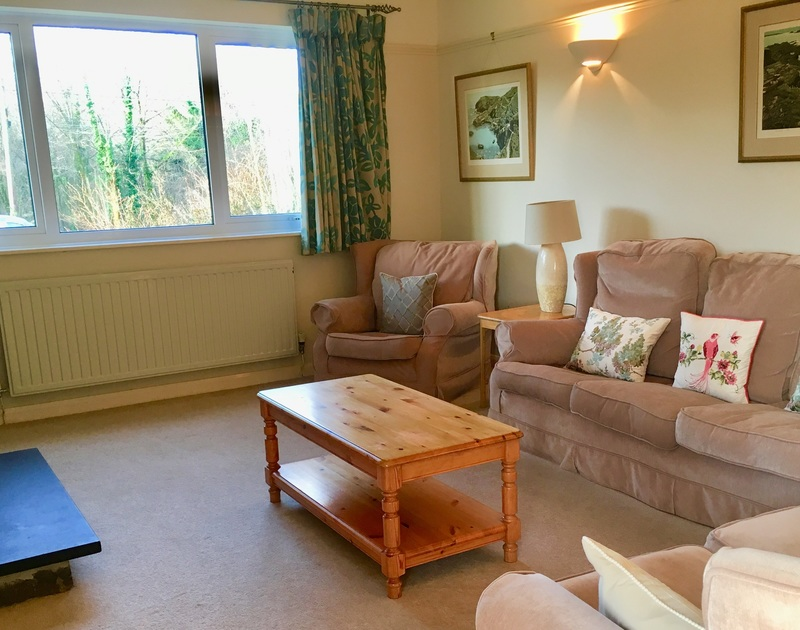 The sitting room at self catering, holiday cottage Brookfield in Rock, Cornwall.