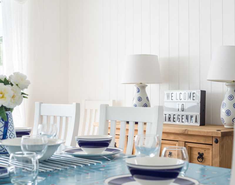 Thoughtfully furnished and decorated self catering Tregenna a newly refurbished holiday cottage tucked away at the top of Port Isaac in North Cornwall.