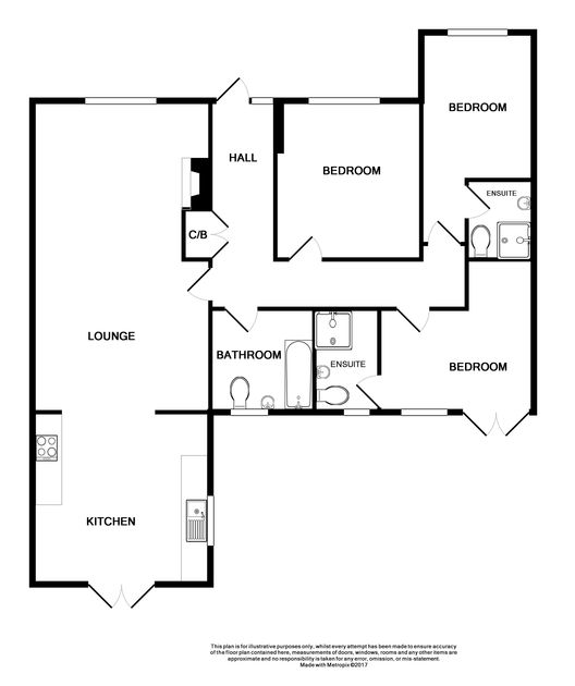 The floor plan for Silvershell House, a self catering holiday rental in Port Isaac in North Cornwall.