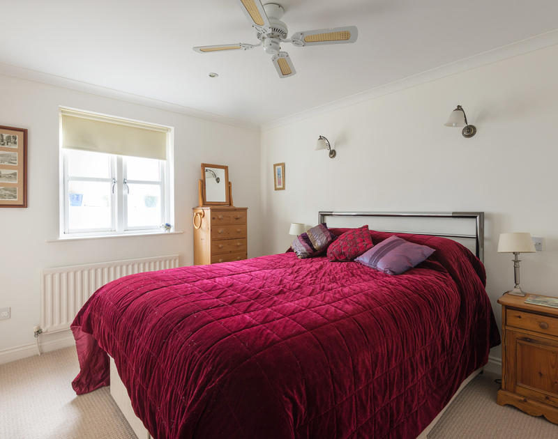 A double bedroom at Cliffside 1, self catering holiday accommodation in a stunning location on the cliffs between Port Isaac and Port Gaverne on the North Coast of Cornwall.