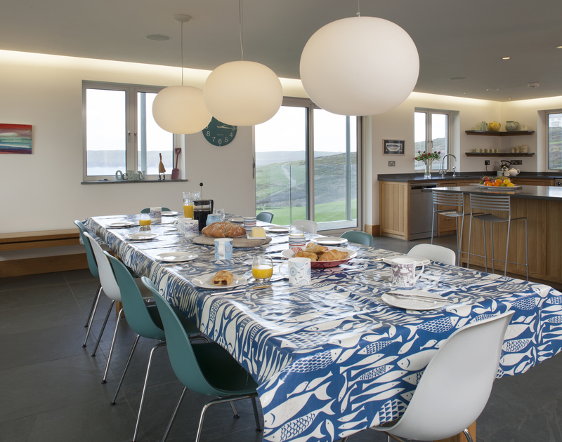 The dining room view from Greenaway Reach, a self catering holiday home to rent near Daymer, North Cornwall